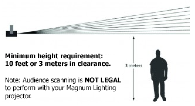 warning height lasers